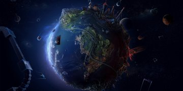3d Earth View L Twitter Covers