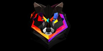 Abstract Wolf L Twitter Covers