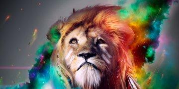 Lion Digital Art L Twitter Covers